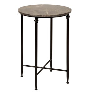 Dark Marble Top End Table by Urban Designs