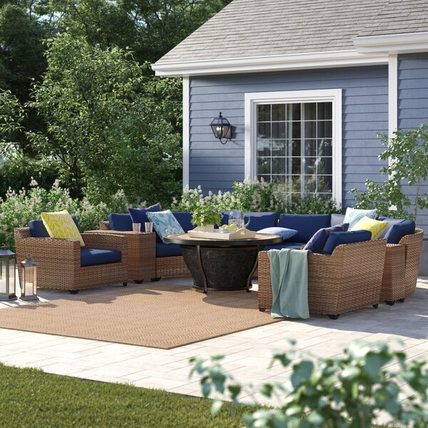 Waterbury 8 Piece Rattan Sectional Seating Group with Cushions by Sol 72 Outdoor