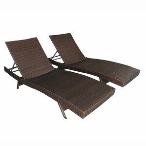 Rosas Adjustable Wicker Patio Chairs (Set Of 2)