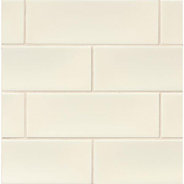 Leila 4 x 12 Ceramic Subway Tile in Cream by Grayson Martin