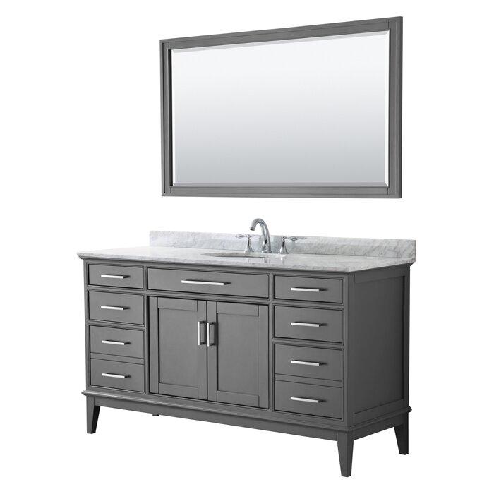Wyndham Collection Margate 60 Inch Single Bathroom Vanity In Dark