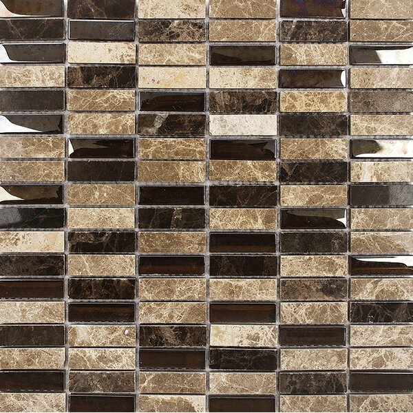 Oakland Stacked 0.625 x 2 Mosaic Tile by Parvatile