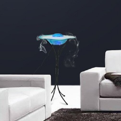 Glass/Metal Canary Table Top Mist Fountain/Aroma Diffuser with Inline Control and LED Light by Canary Products