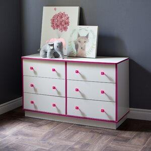 Logik 6 Drawer Double Dresser