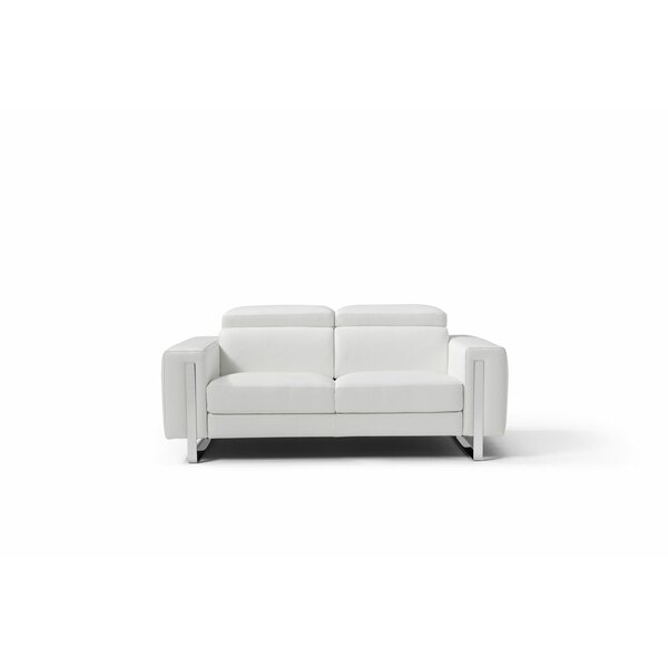 Mindaugas Leather Sofa by Orren Ellis