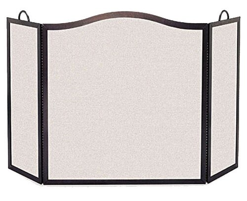Camelback 3 Panel Steel Fireplace Screen By Pilgrim Hearth