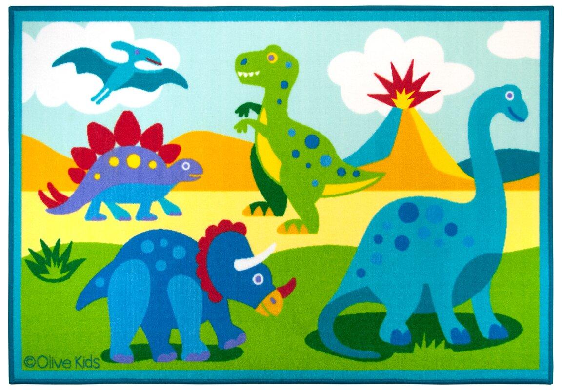 Uncategorized Dinosaur Pictures For Kids wildkin olive kids dinosaur land area rug reviews wayfair rug