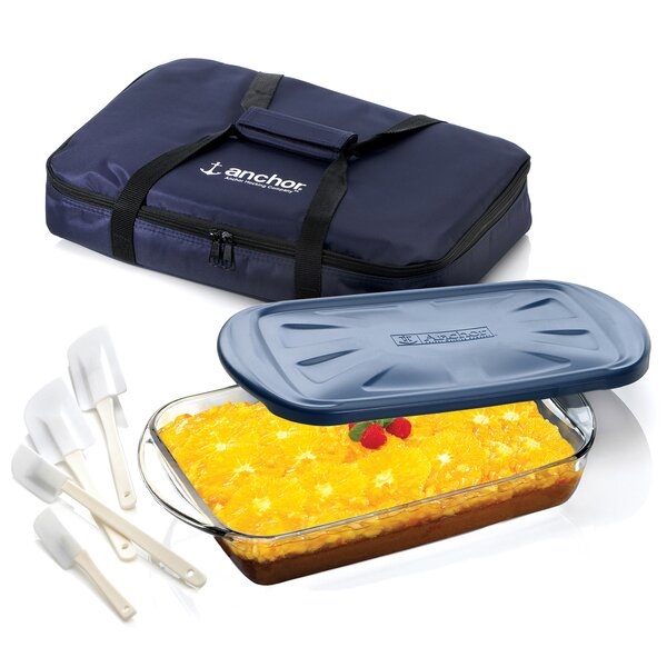 3 Piece Ovenware Set with Tote Bag by Anchor Hocking