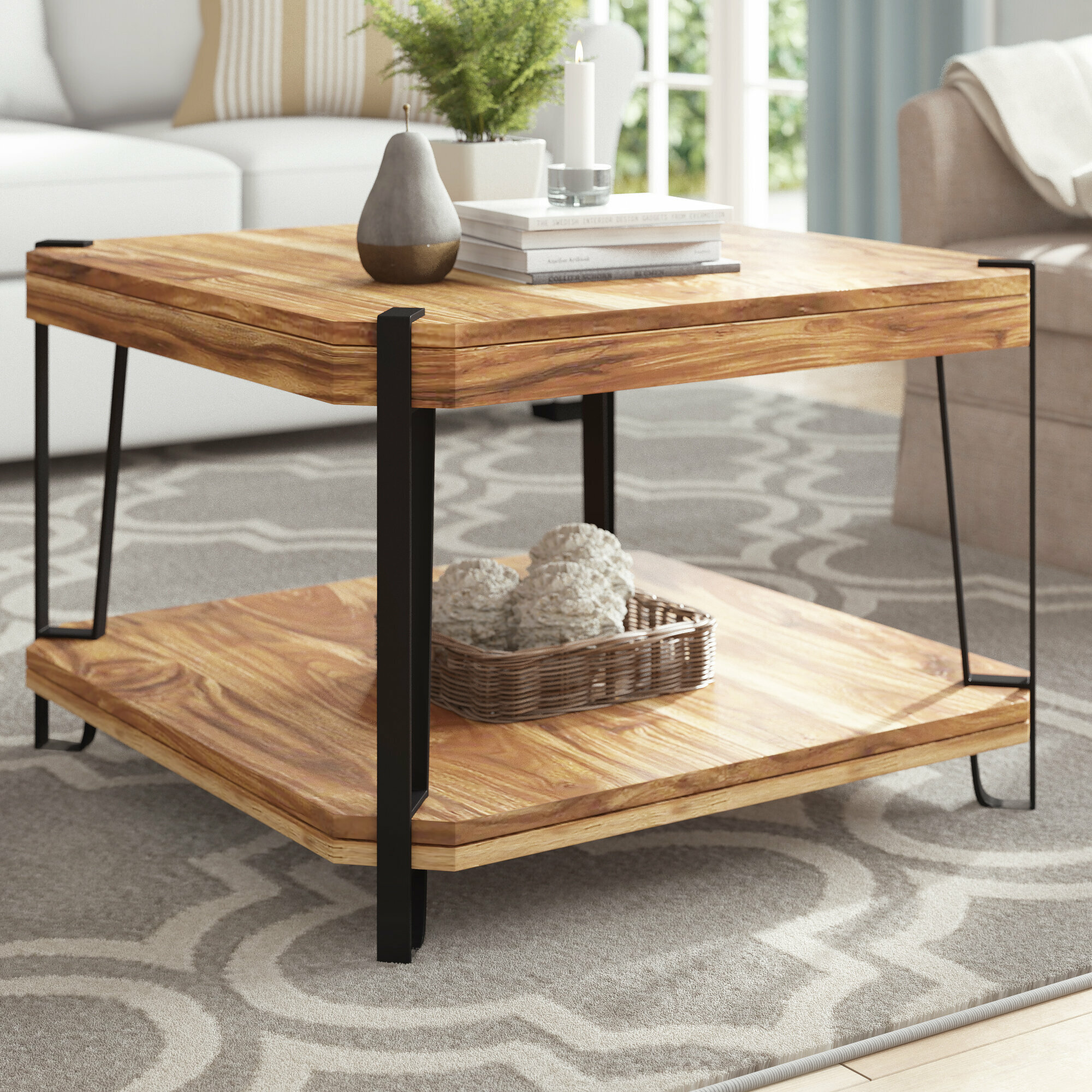 Industriel Table Basse Palette tindal coffee table with storage