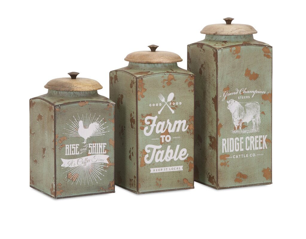 wayfair design canisters reviews forge galvanized kitchen canister ideas williston