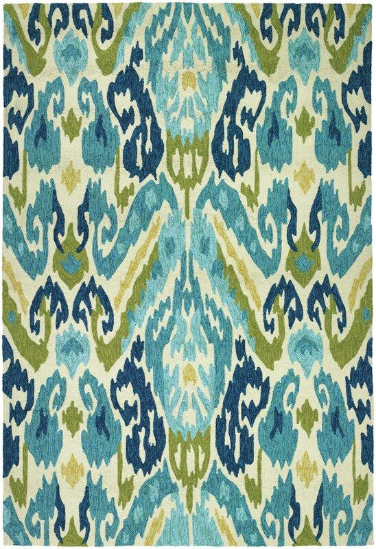 Charlot Hand Woven Green/Blue Indoor/Outdoor Area Rug
