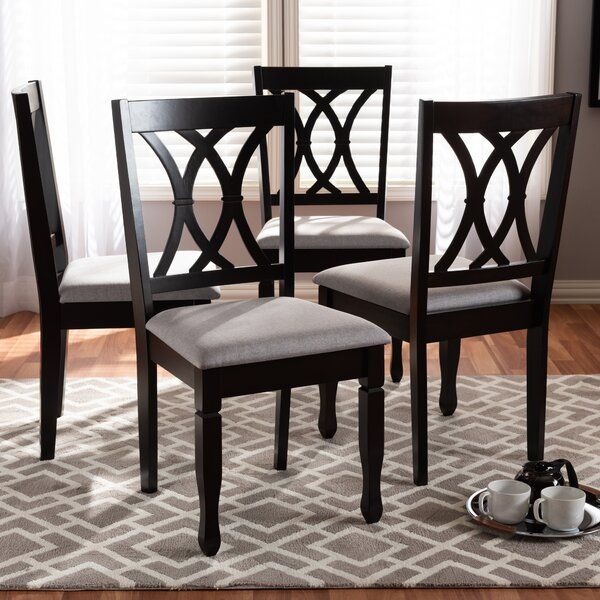 Sessums Solid Wood Dining Chair (Set of 4) by Canora Grey