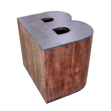 Letter-Shaped B Wooden Accent Stool by Jeco Inc.