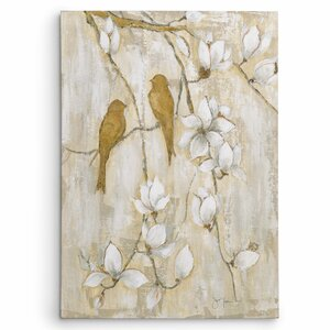 'Song of Spring I' by Janet Brignola-Tava Painting Print on Wrapped Canvas by Wexford Home