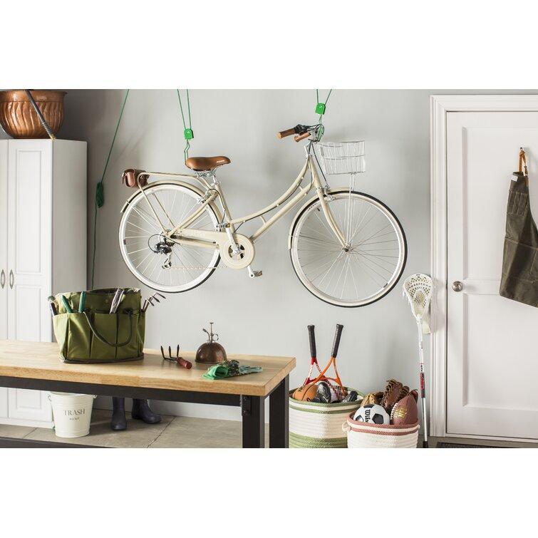 1 Pair Bike Lift Ceiling Mounted Bicycle Hoist Storage Garage Hanger Pulley Rack