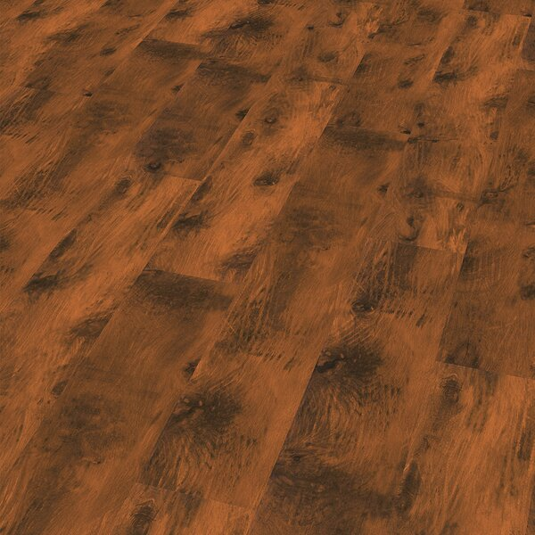 7 x 47 x 8mm Laminate Flooring in Brown by ELESGO Floor USA