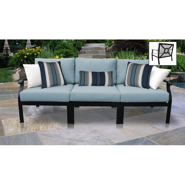 kathy ireland Madison Ave. Outdoor 3 Piece Sofa Seating Group with Cushions by kathy ireland Homes & Gardens by TK Classics