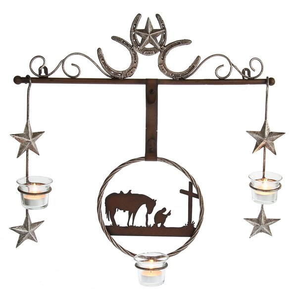 Horseshoe Wall Metal Tealight Holder by Loon Peak