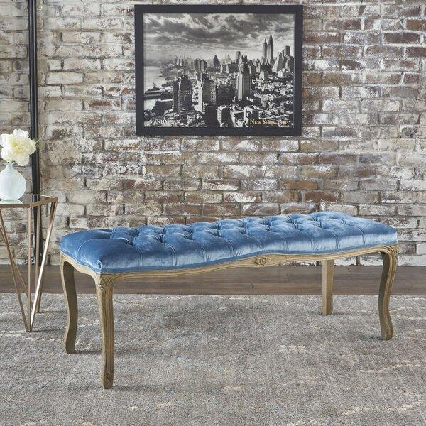 Samaira Velvet Upholstered Bench by Ophelia & Co.