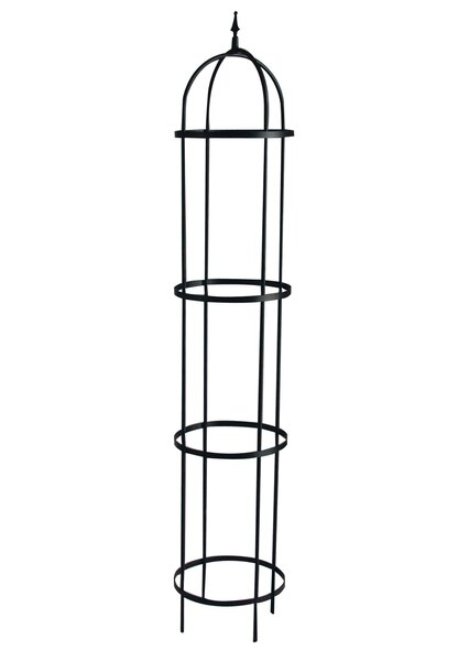 Rose Tower Steel Obelisk Trellis by Panacea