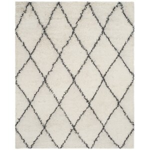 Lohan Knotted Cotton Ivory Area Rug