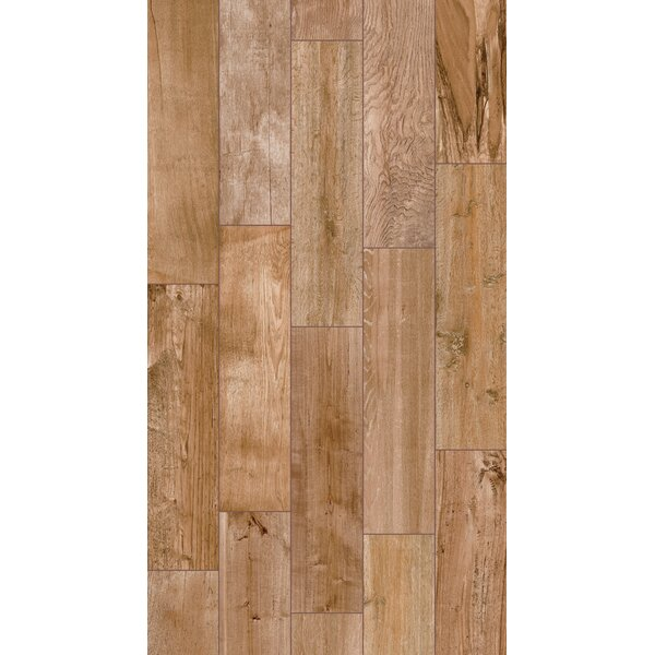 Shuffle 6 x 24 Porcelain Wood Tile in Natural by Parvatile