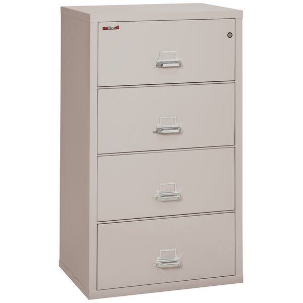 Fireproof 4-Drawer Vertical File Cabinet by FireKi
