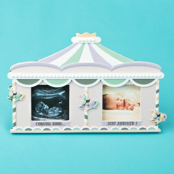Sonogram Birth and Fabulous Circus Tent Double Picture Frame by Fashion Craft