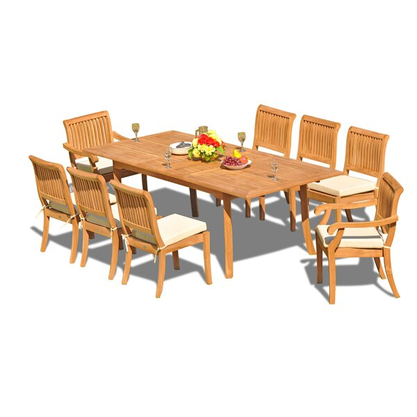 Masten Luxurious 9 Piece Teak Dining Set