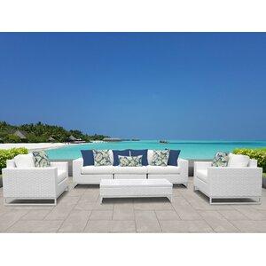 Miami 6 Piece Deep Seating Group with Cushions