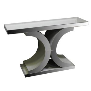 Rosdorf Park Courtney Glass Console Table