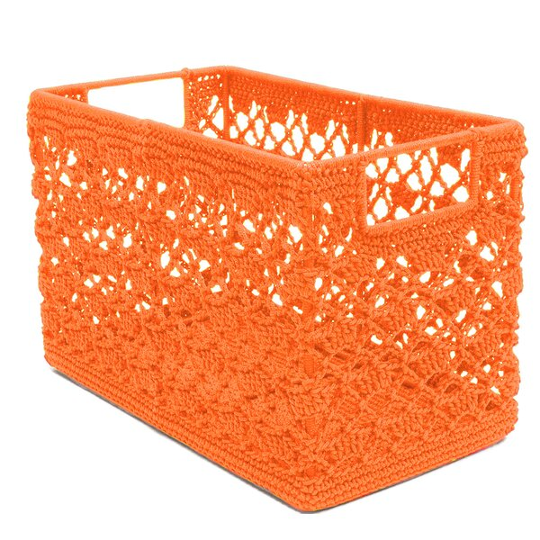 Mode Crochet Fabric Basket by Heritage Lace