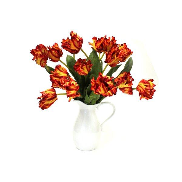 Tulips Flower Floral Arrangement by August Grove
