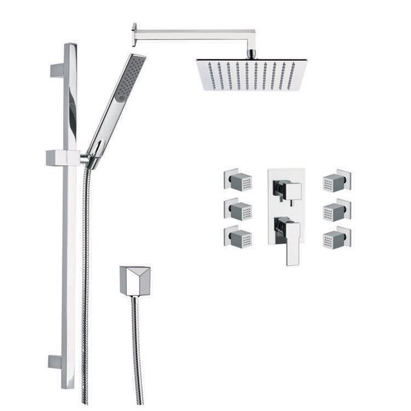 Raniero Diverter Complete Shower System with Rough-in Valve by Remer by Nameek's Remer by Nameek's