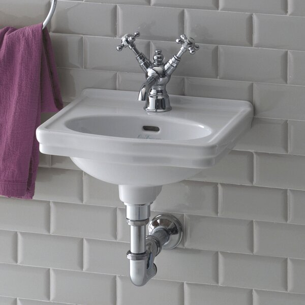 Leavitt Vitreous China 15 Wall Mount Bathroom Sink with Overflow by Bissonnet