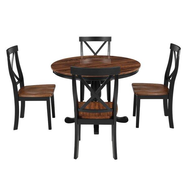5 - Piece Dining Set In  Dark Brown By Alcott Hill®