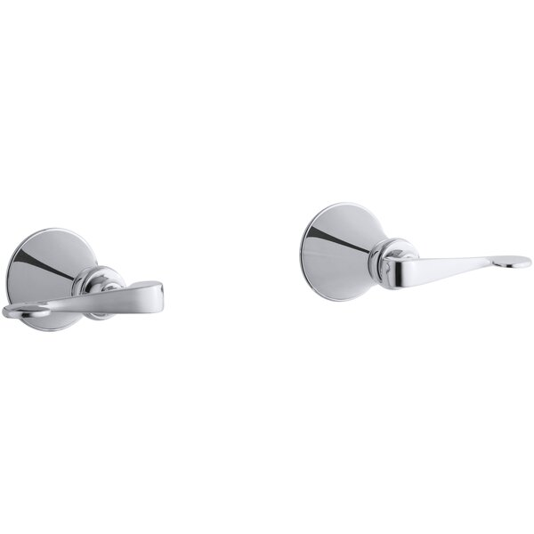 Revival Two-Handle Wall-Mount Bath Valve with Scroll Lever Handles by Kohler