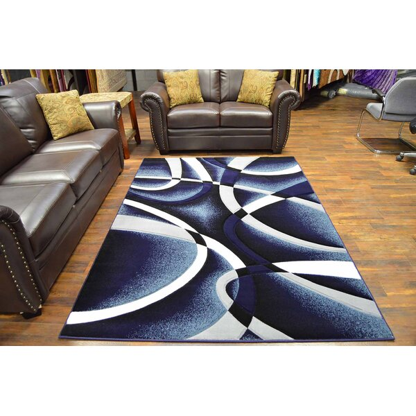 Mccampbell Navy/White Area Rug by Ivy Bronx