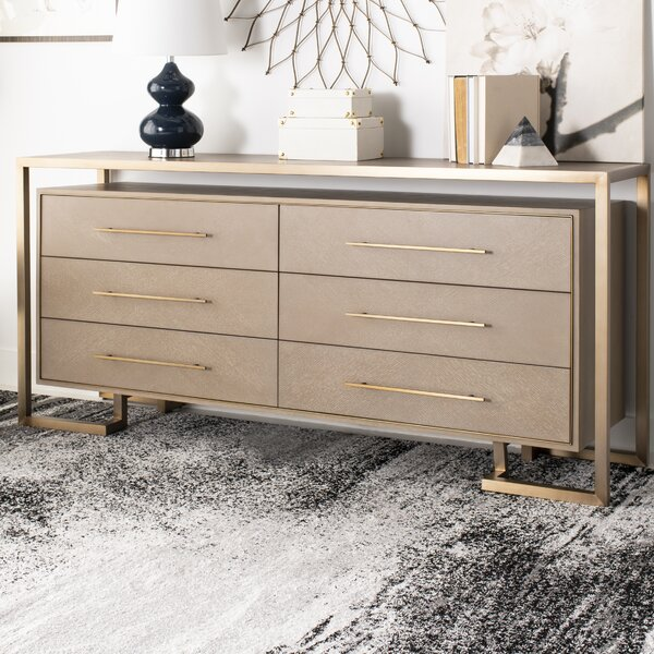 Steyning 6 Drawer Double Dresser by Everly Quinn
