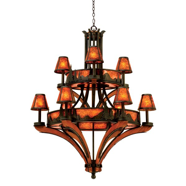 Ansonia 9-Light Shaded Tiered Chandelier by Millwood Pines Millwood Pines