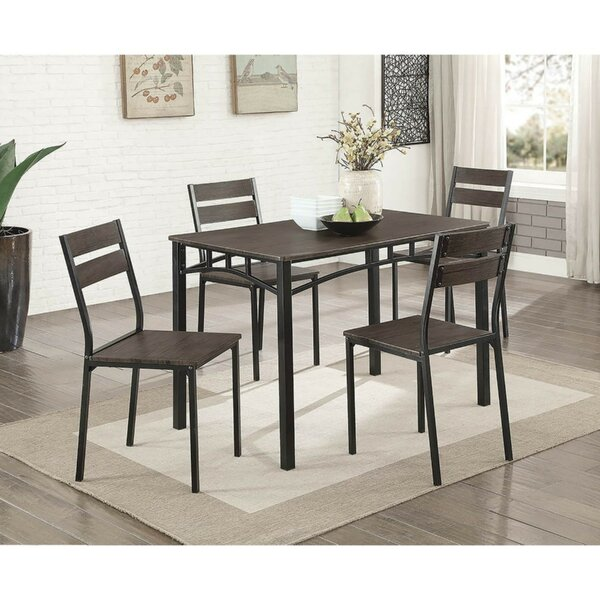 Brodhead Wooden 5 Piece Counter Height Dining Table Set by Union Rustic