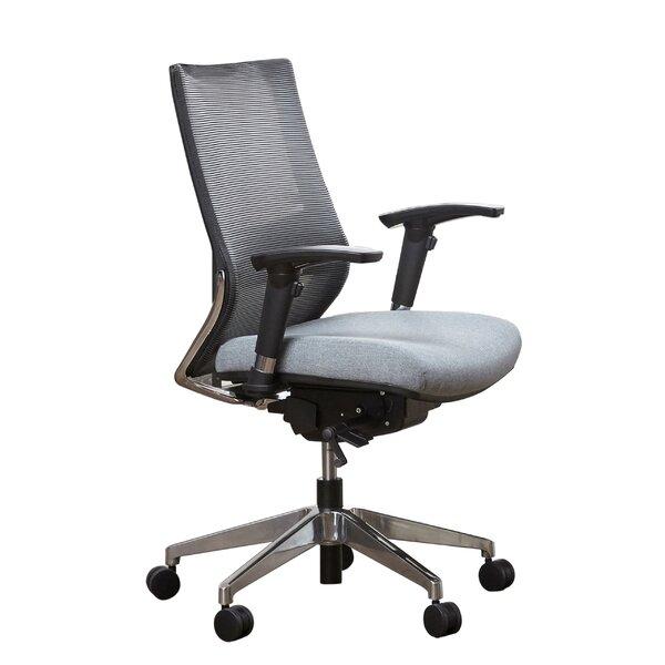 Kowal Mesh Height Adjustable Mid Back Executive Chair by Latitude Run