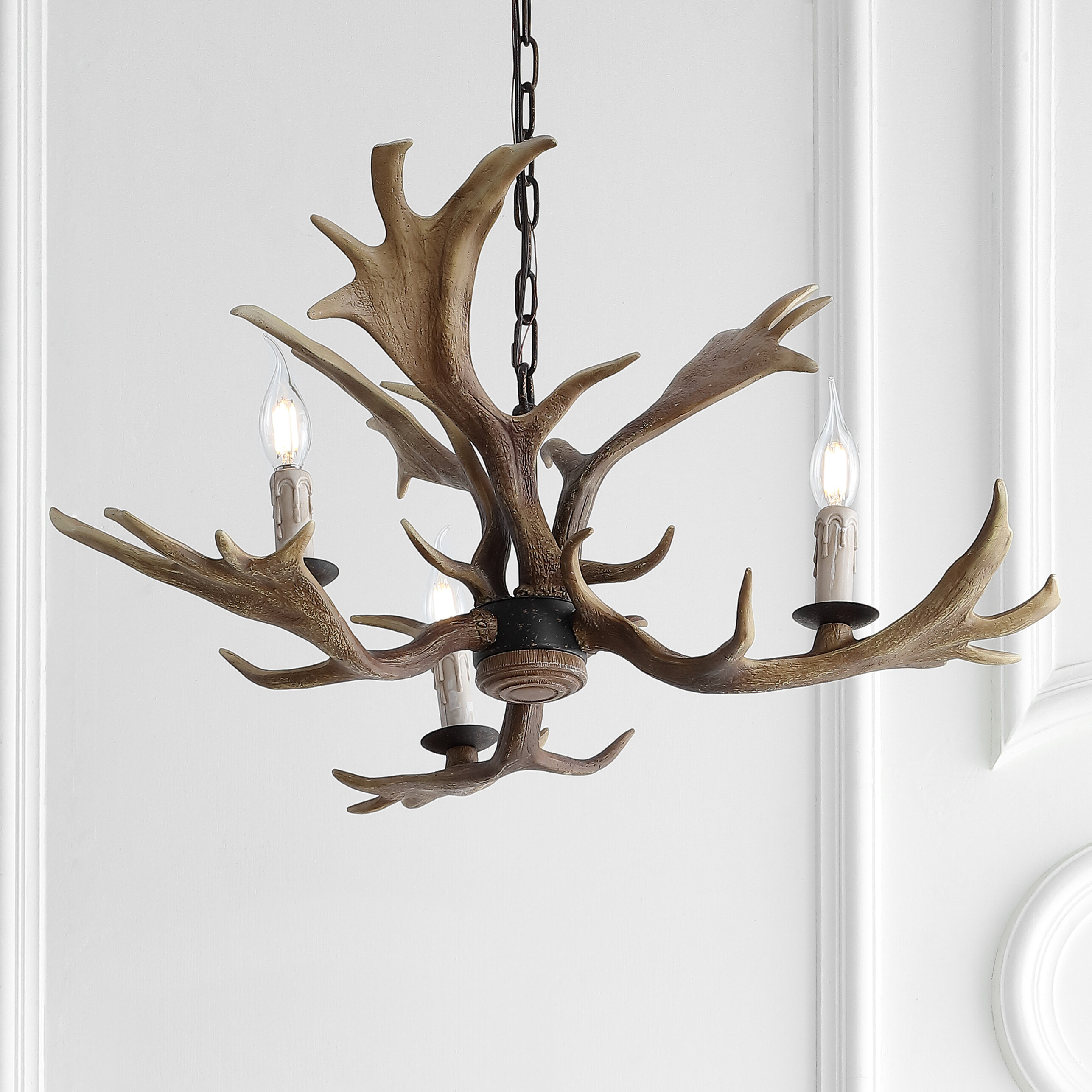 Picture of: Lamp Repair Refurbishing 6 Resin Faux Antler Style Candelabra Candle Cover For Rustic Chandelier Fixture Medalex Rs