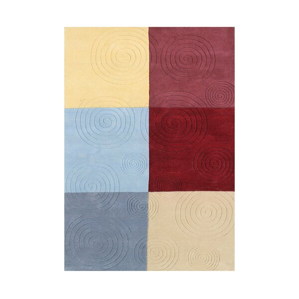 Newsoms Hand Woven Wool Gray/Red/Yellow Indoor Area Rug by Red Barrel Studio