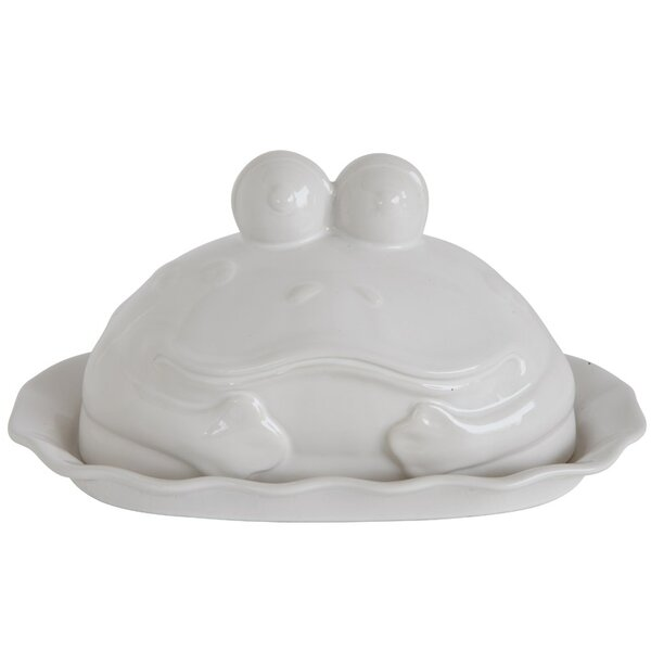 Garway Stoneware Frog Shaped Butter Dish by Winston Porter