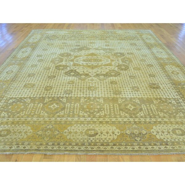 One-of-a-Kind Best Eptian Hand-Knotted Beige Wool Area Rug by Isabelline