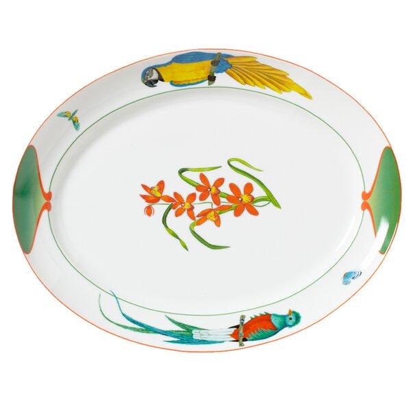 Rainforest Oval Platter by Lynn Chase Designs