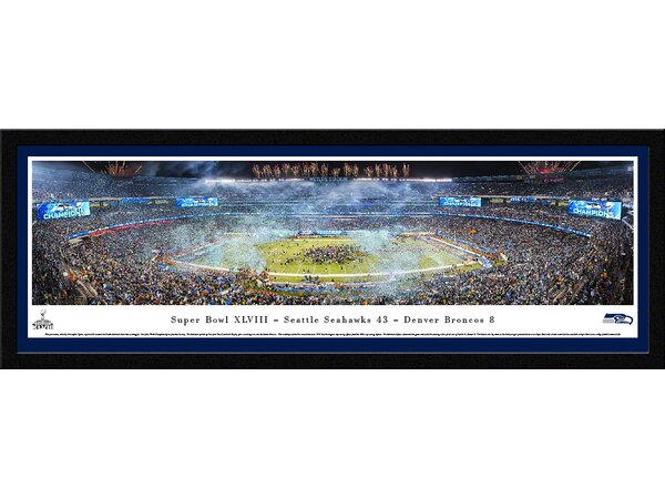 NFL Super Bowl 2014 by Christopher Gjevre Framed Photographic Print by Blakeway Worldwide Panoramas, Inc