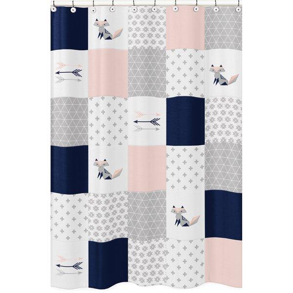 Fox Patch Shower Curtain by Sweet Jojo Designs