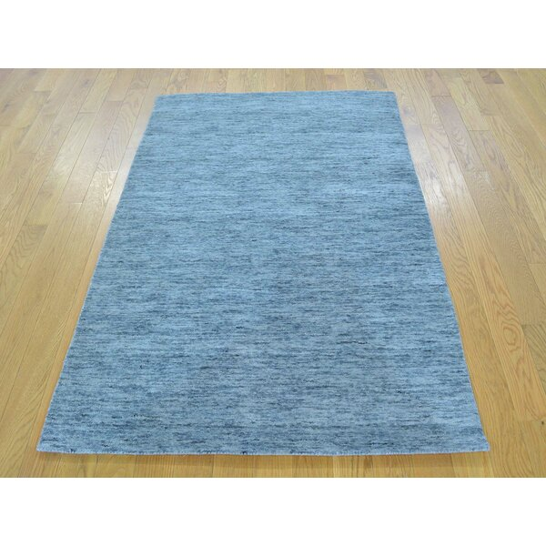 One-of-a-Kind Becker Handwoven Grey Wool Area Rug by Isabelline